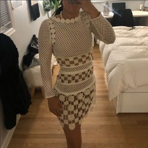 NWT Self Portrait Floral Crochet Mini Dress